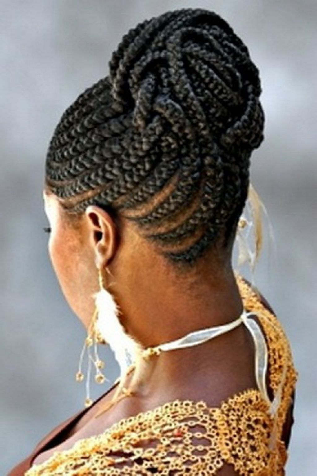 African Cornrow Braided Bun Hairstyles For Black Hair – Popular Long For Recent African American Braided Bun Hairstyles (View 4 of 15)