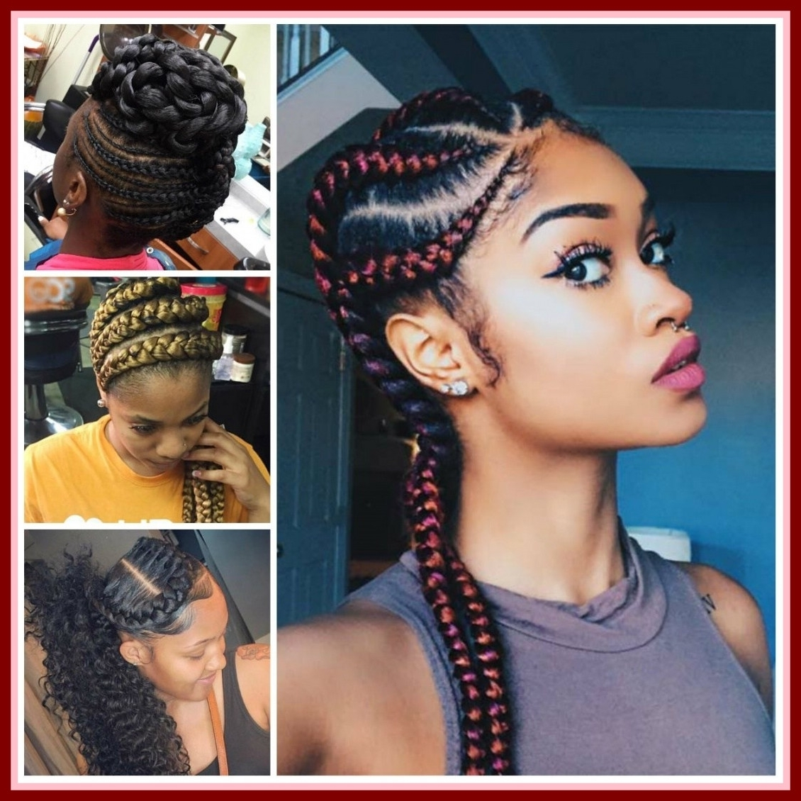 Astonishing African Braids Hairstyles The Big River Picture For Pertaining To Fashionable African Braided Hairstyles (Gallery 5 of 15)