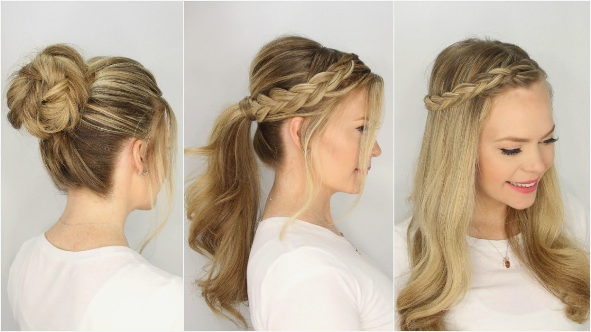 Awesome Braid Easy Braided Hairstyles Cute For School Short Hair Throughout Recent Easy Braided Hairstyles (View 13 of 15)
