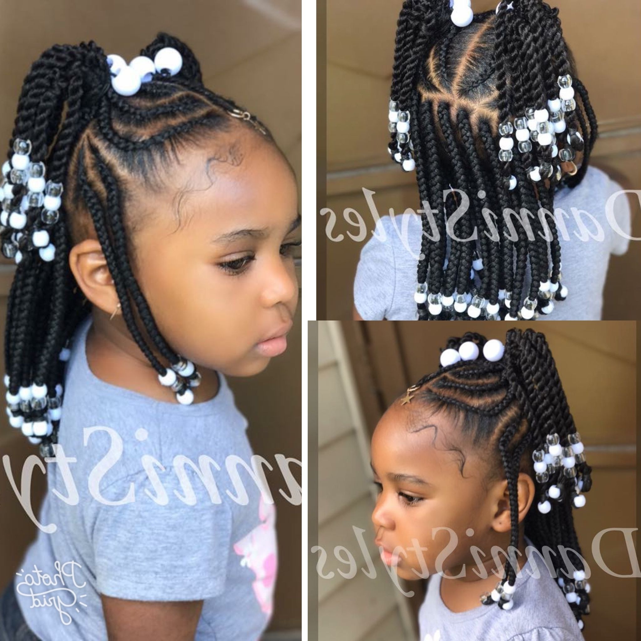 15 Collection of Braided Hairstyles For Little Black Girls
