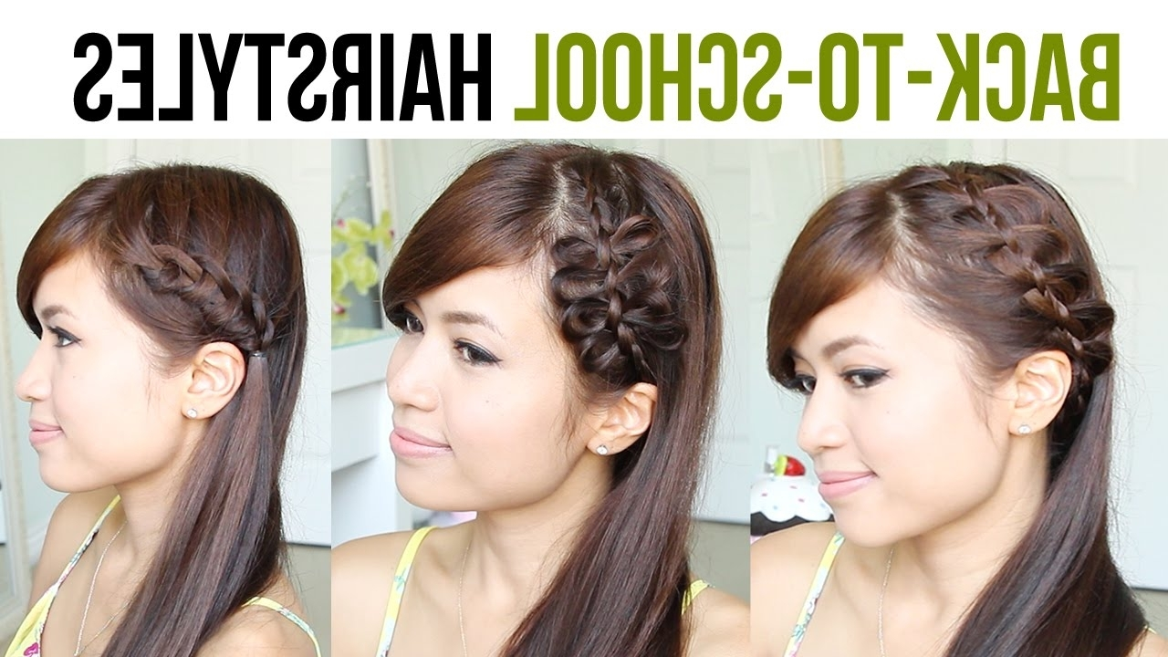 Back To School Hairstyles : #18 Quick & Easy Hairstyles For Girls With Most Up To Date Braided Hairstyles For School (View 12 of 15)