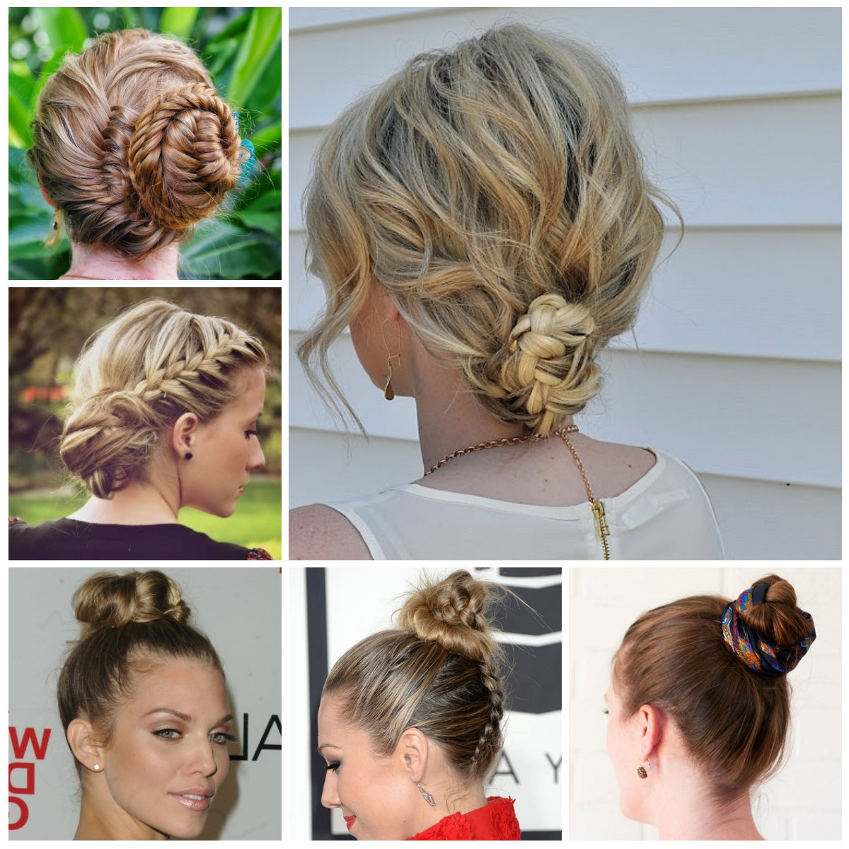 Best And Newest Braid And Bun Hairstyles In Cute Braided Bun Hairstyles 2016 Best Of Hairstyles With Braids And (View 4 of 15)