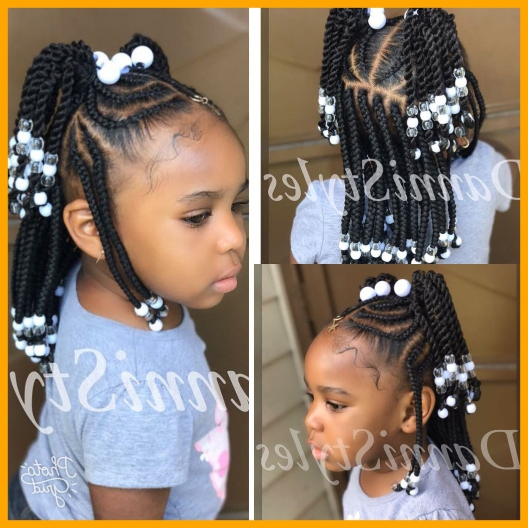 Best And Newest Braided Hairstyles For Little Girl With Shocking Cosy Little Girl Braided Hairstyles With Beads Love This (View 3 of 15)