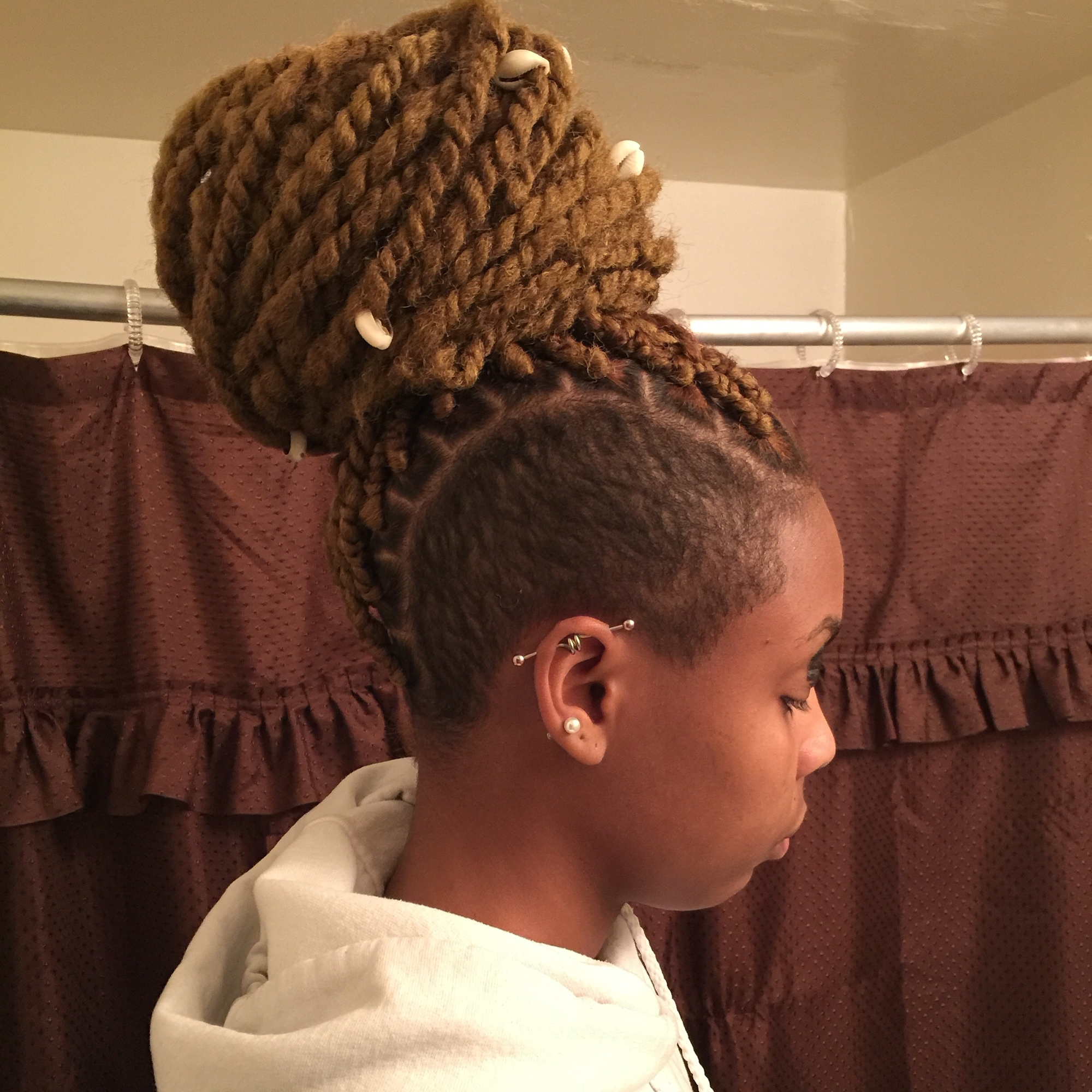 Best And Newest Braided Hairstyles With Shaved Sides With Regard To Enchanting Braided Hairstyles With Shaved Sides With Additional (View 14 of 15)