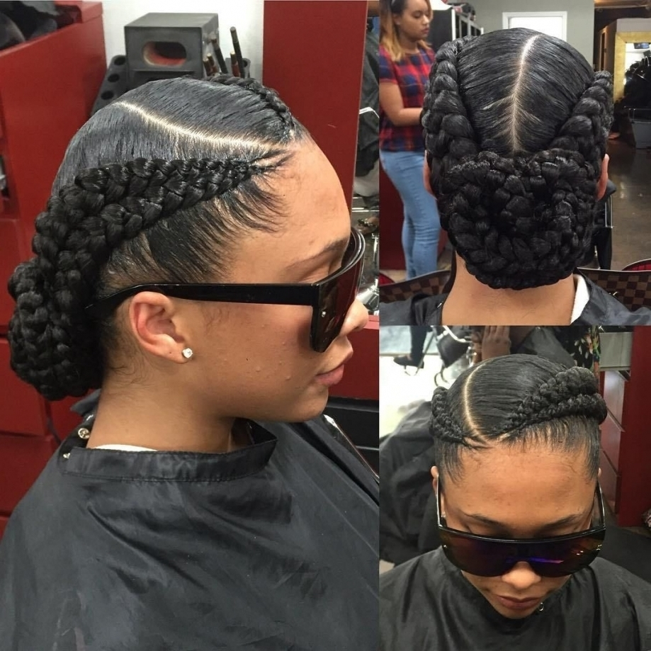 Photo Gallery Of Braided Up Hairstyles With Weave Viewing 12 Of 15