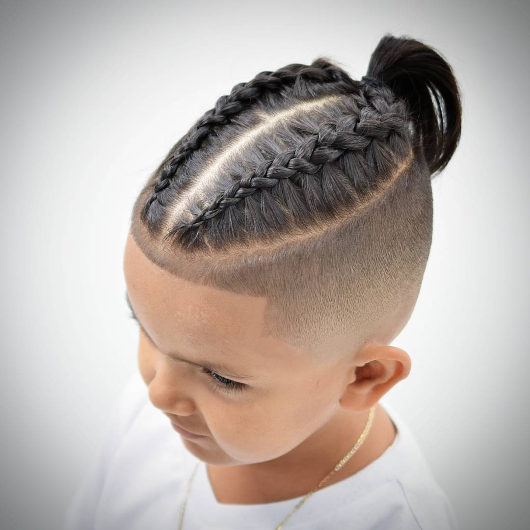 Best And Newest Bun Braided Hairstyles Intended For Best 14 Braids Hairstyles + Haircuts For Men's (View 4 of 15)