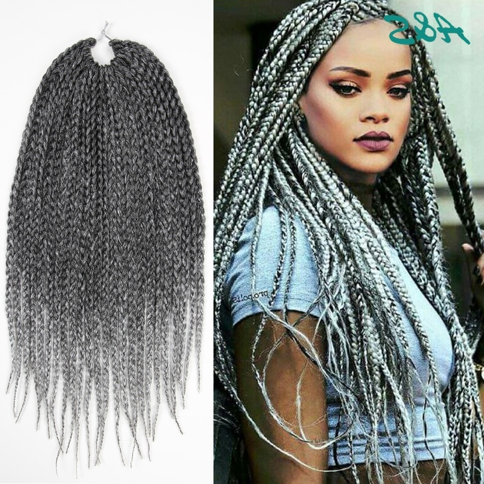 Best And Newest Rihanna Braided Hairstyles With Regard To Rihanna Hairstyle Crochet Braids Crochet Hair Extension Thin Box (View 1 of 15)