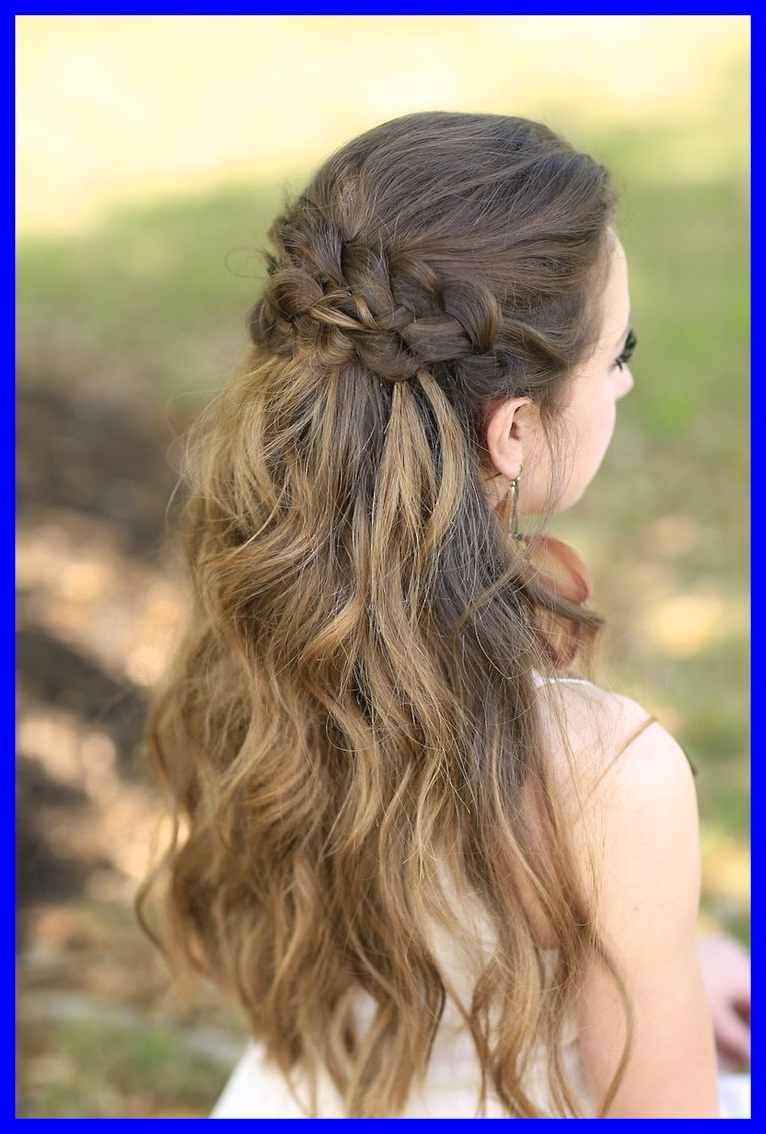 Best Prom Hairstyles With Waterfall Braids Formal Braided Hair Stock Pertaining To Most Popular Braided Hairstyles For Prom (View 12 of 15)