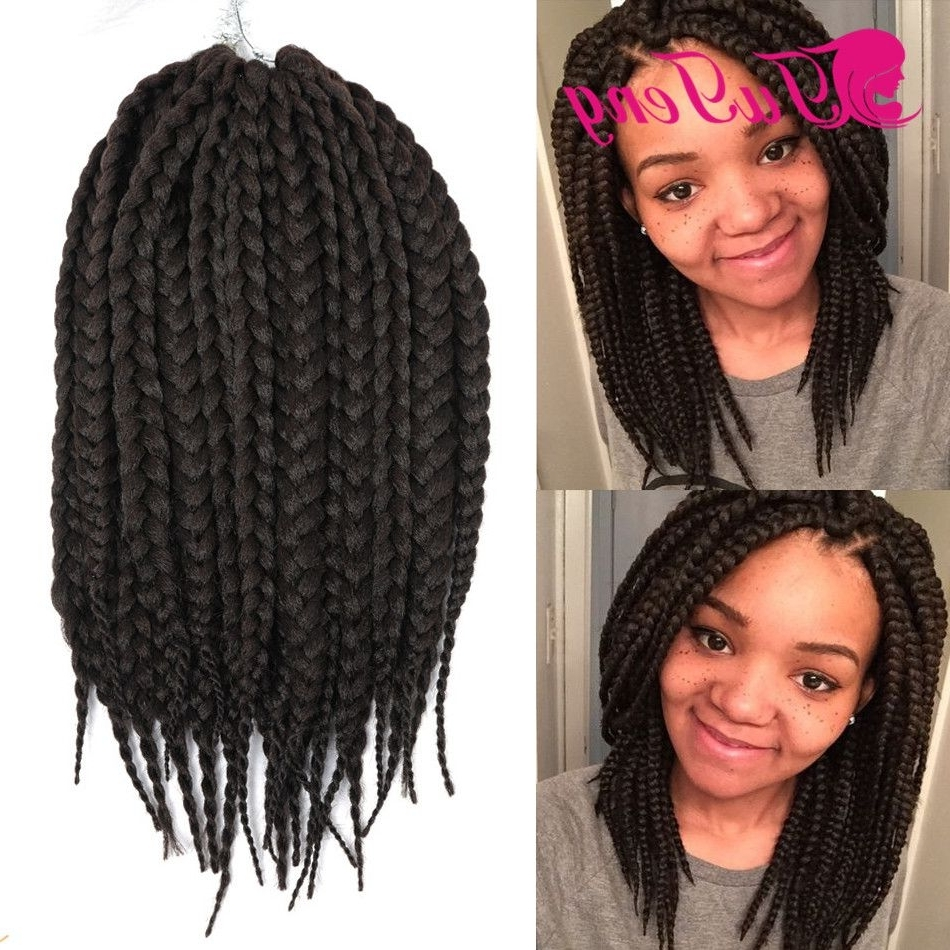 Box Braids Crotchet Braids Curly Weave Synthetic Hair Extensions 14 Pertaining To Well Liked Braided Hairstyles With Fake Hair (View 7 of 15)