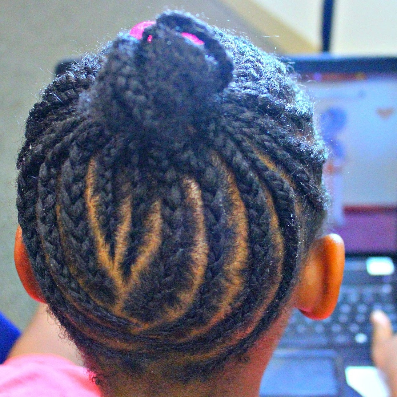 Braid Up Ponytail Kids Edition ( Watch Me Work) – Youtube In Latest Braided Hairstyles Up In A Ponytail (View 3 of 15)