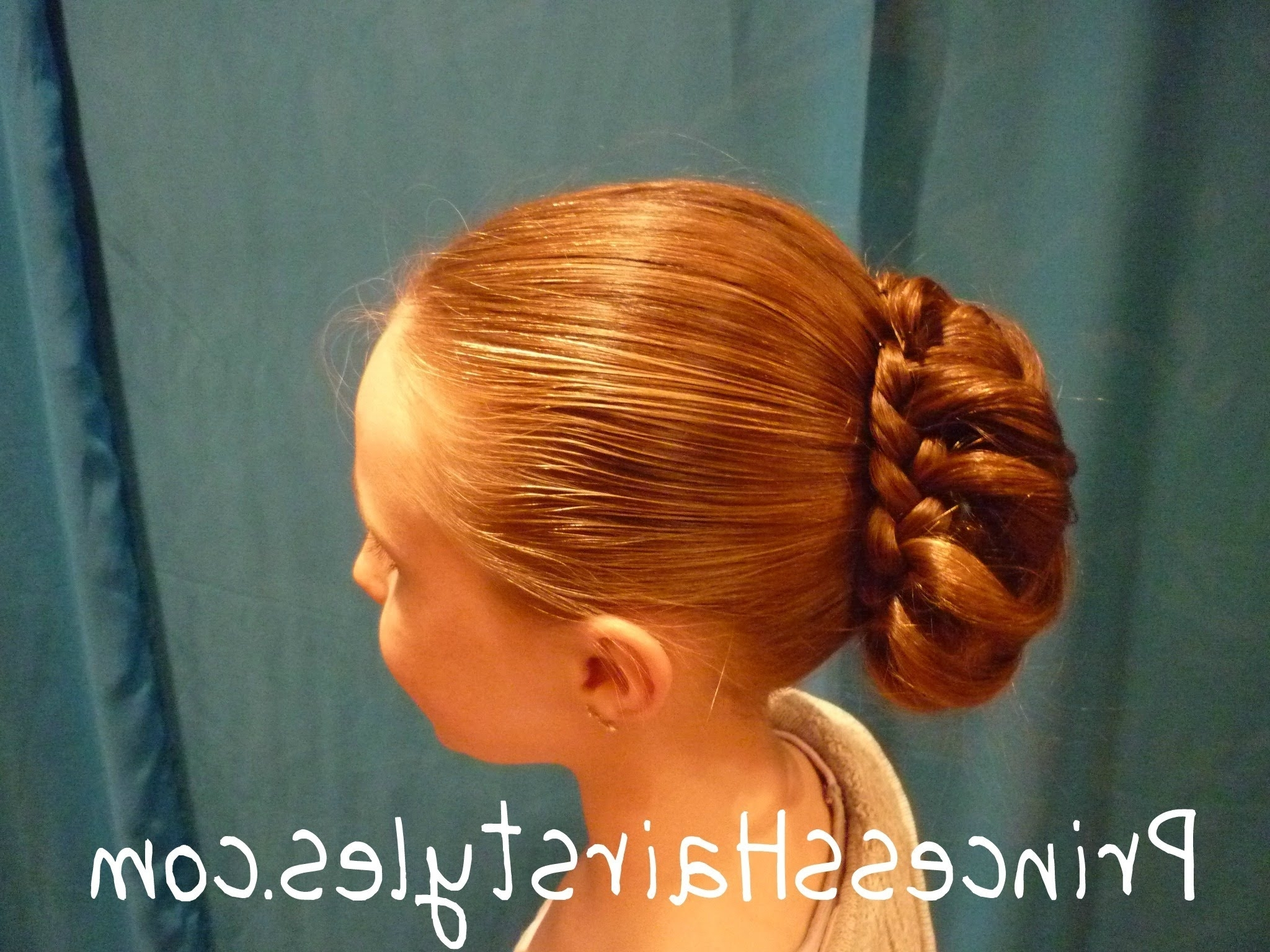 Braid Wrapped Bun – Updo Chignon Hairstyles – Youtube Within Current Braided Hairstyles For Dance Recitals (View 5 of 15)