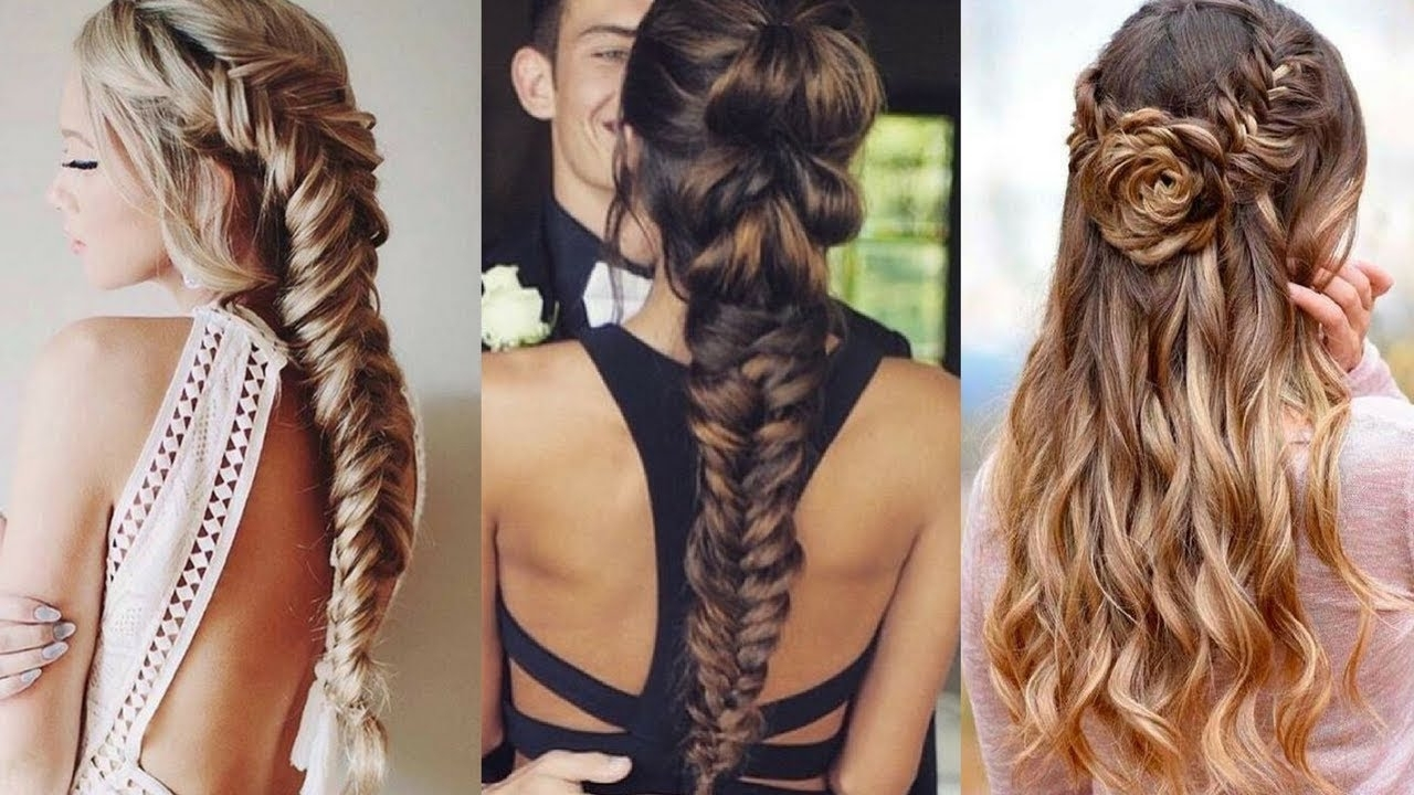 Braided Hairstyle Ideas For Prom 2018 – Youtube Within Fashionable Braided Hairstyles For Prom (View 3 of 15)