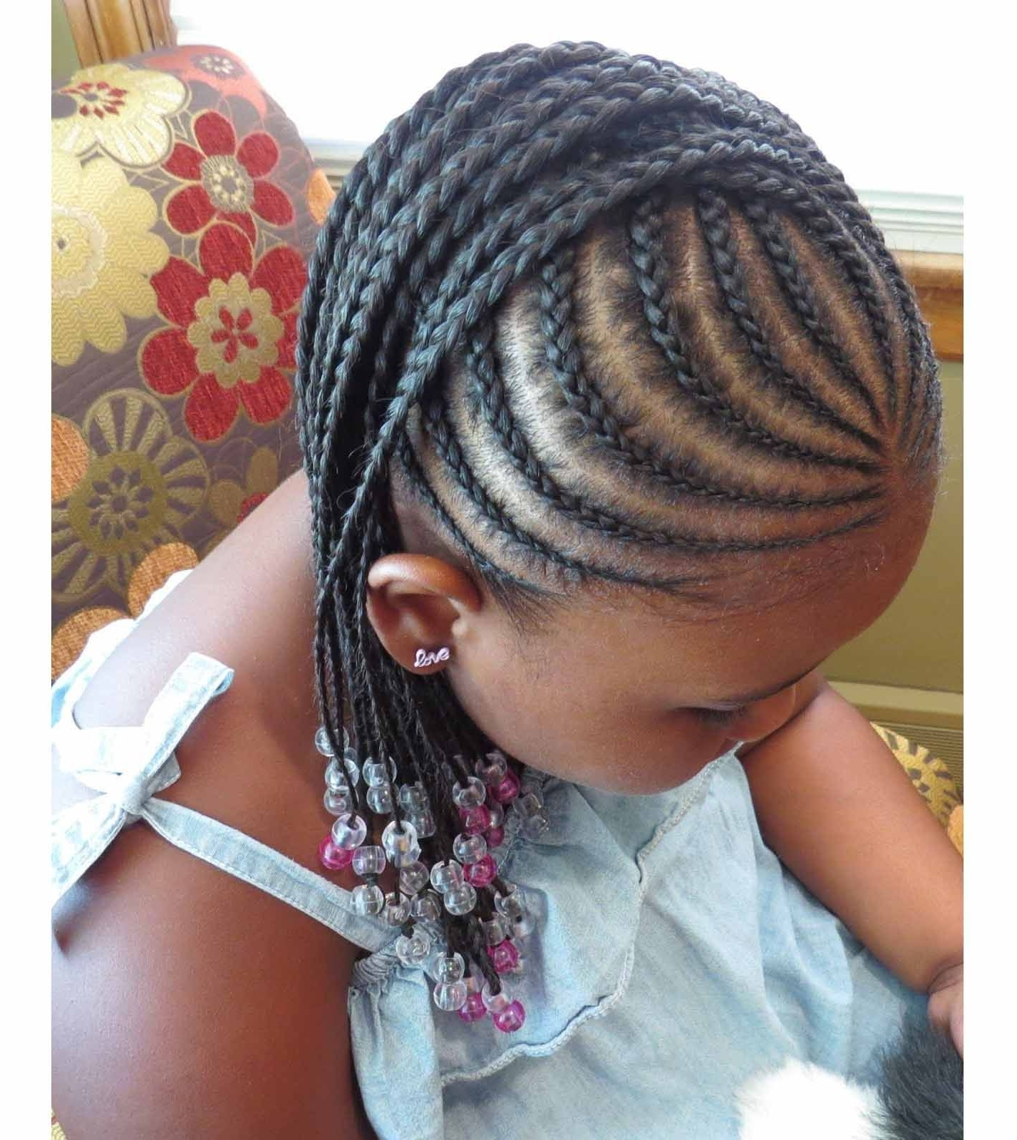 Braided Hairstyles For Little Black Girls With Different Details Within Most Up To Date Braided Hairstyles For Little Black Girl (View 5 of 15)