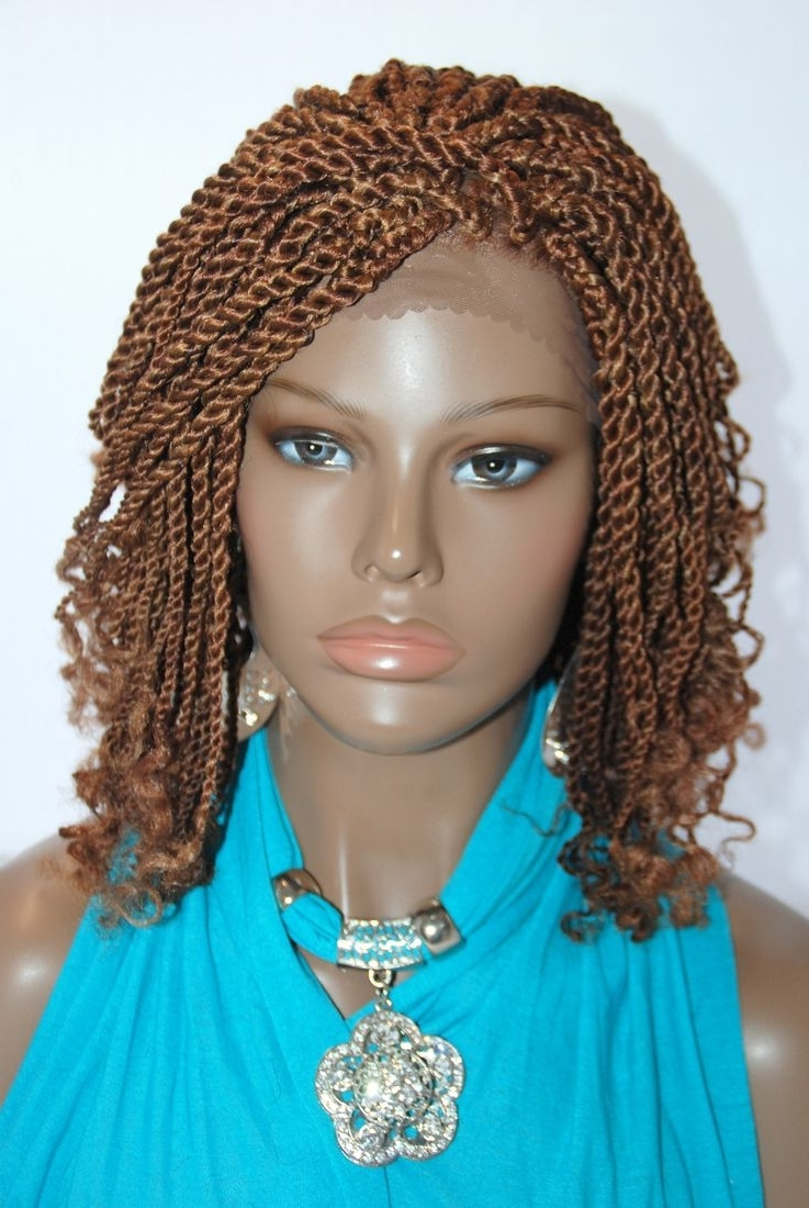Braided Lace Front Wig Kinky Color 27/30 In 12 Inches (Kinky27/30 In Most Recent Braided Hairstyles With Fake Hair (View 8 of 15)