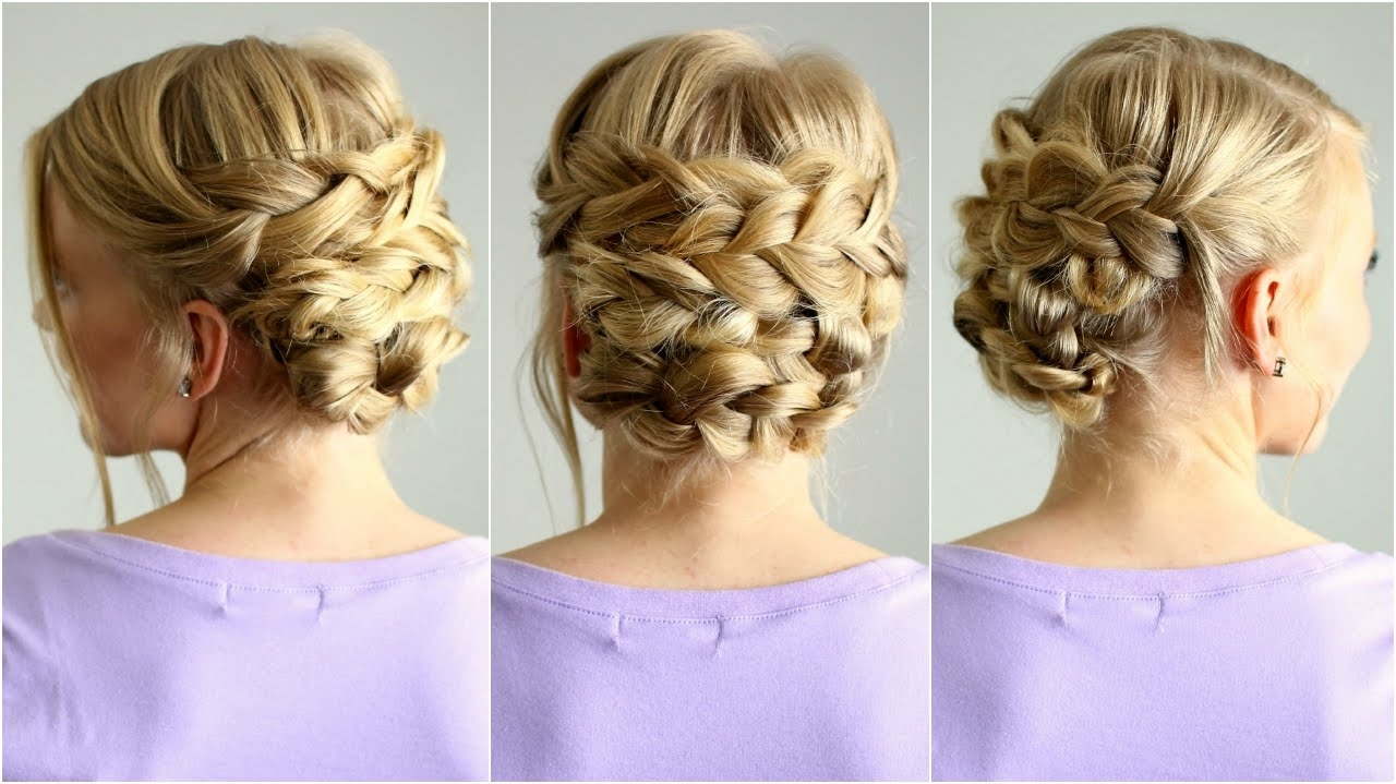 Braided Updo For Shorter Hair (View 4 of 15)