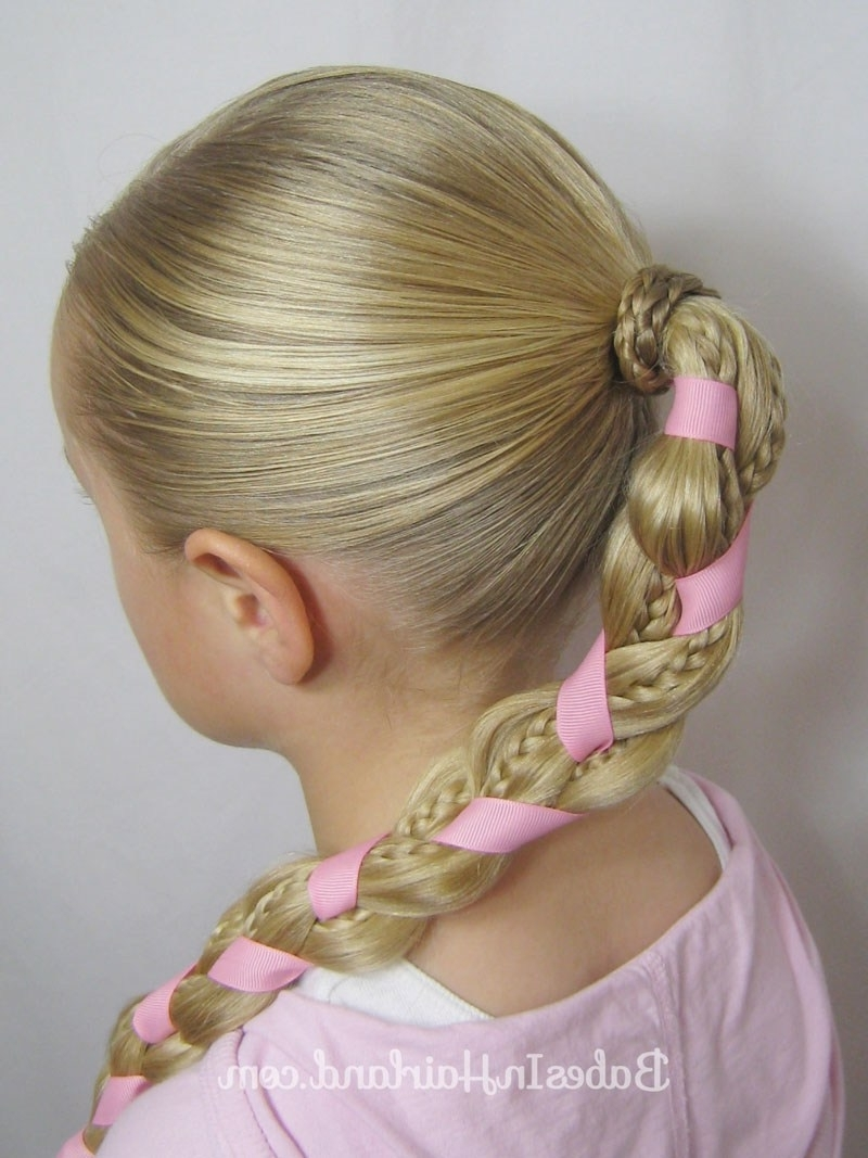 Braids And Ribbon Hairstyle – Babes In Hairland Within Trendy Braided Ribbon Hairstyles (View 10 of 15)