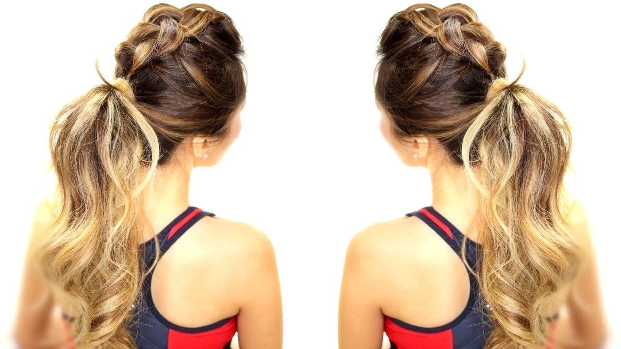 Braids Messy Bun Ponytail – Video (View 5 of 15)