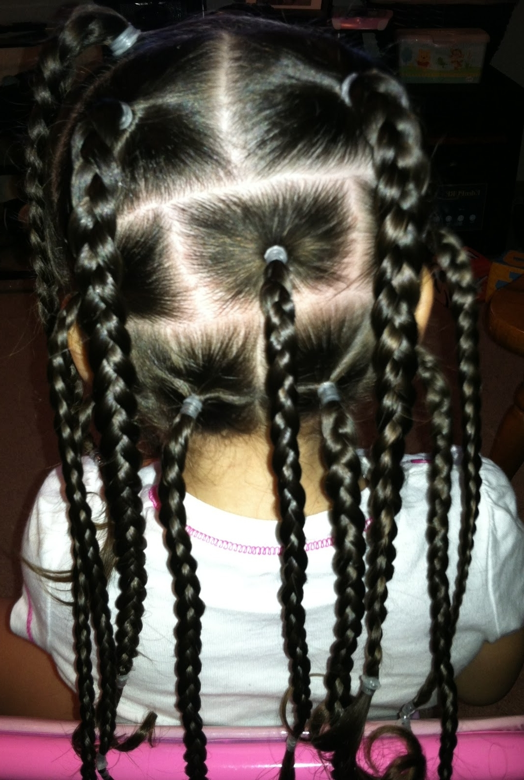Brittney's Beauty : Braided Little Girl Hairstyle Regarding Well Known Braid Hairstyles With Rubber Bands (View 3 of 15)