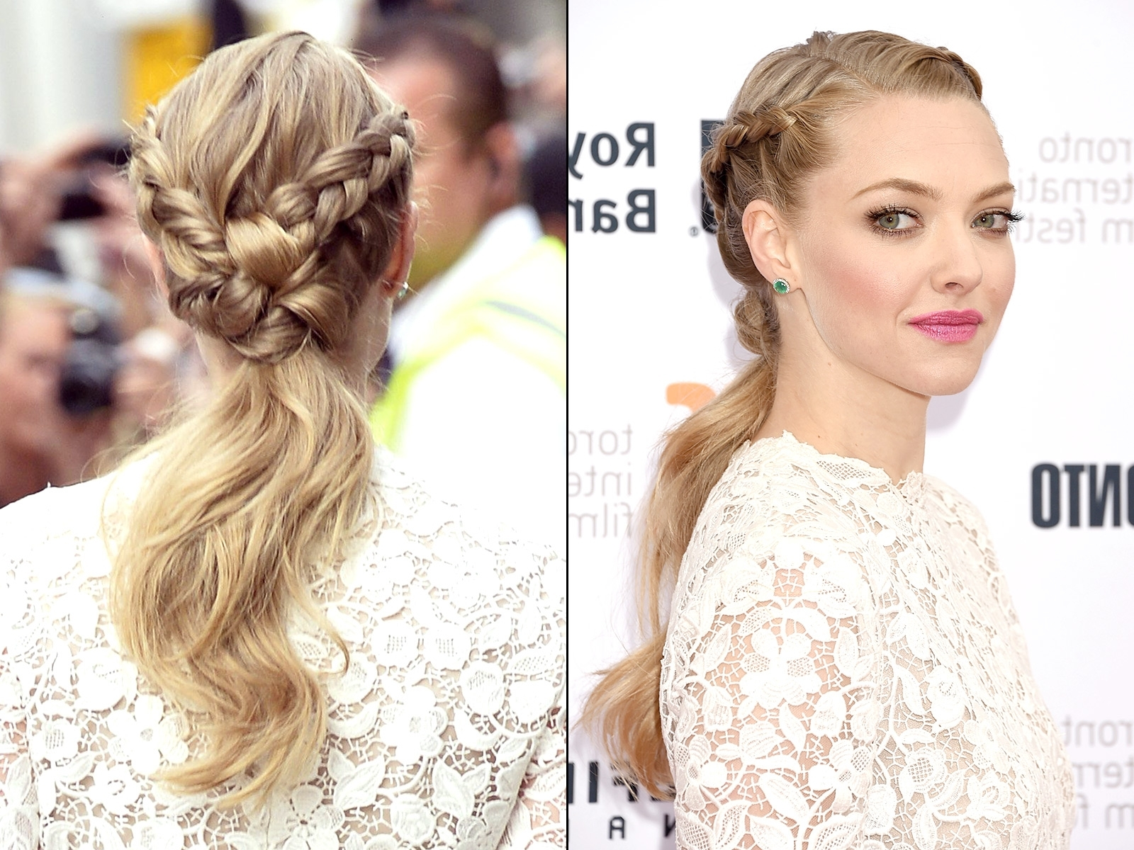 Celebs' Braided Hairstyles On The Red Carpet For Well Known Braided Hairstyles For Red Hair (View 8 of 15)