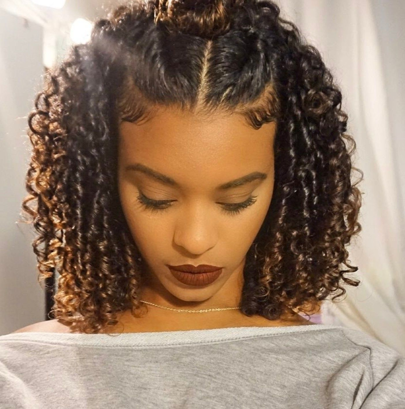 Curly, Hair Style With Trendy Braided Hairstyles For Curly Hair (View 3 of 15)