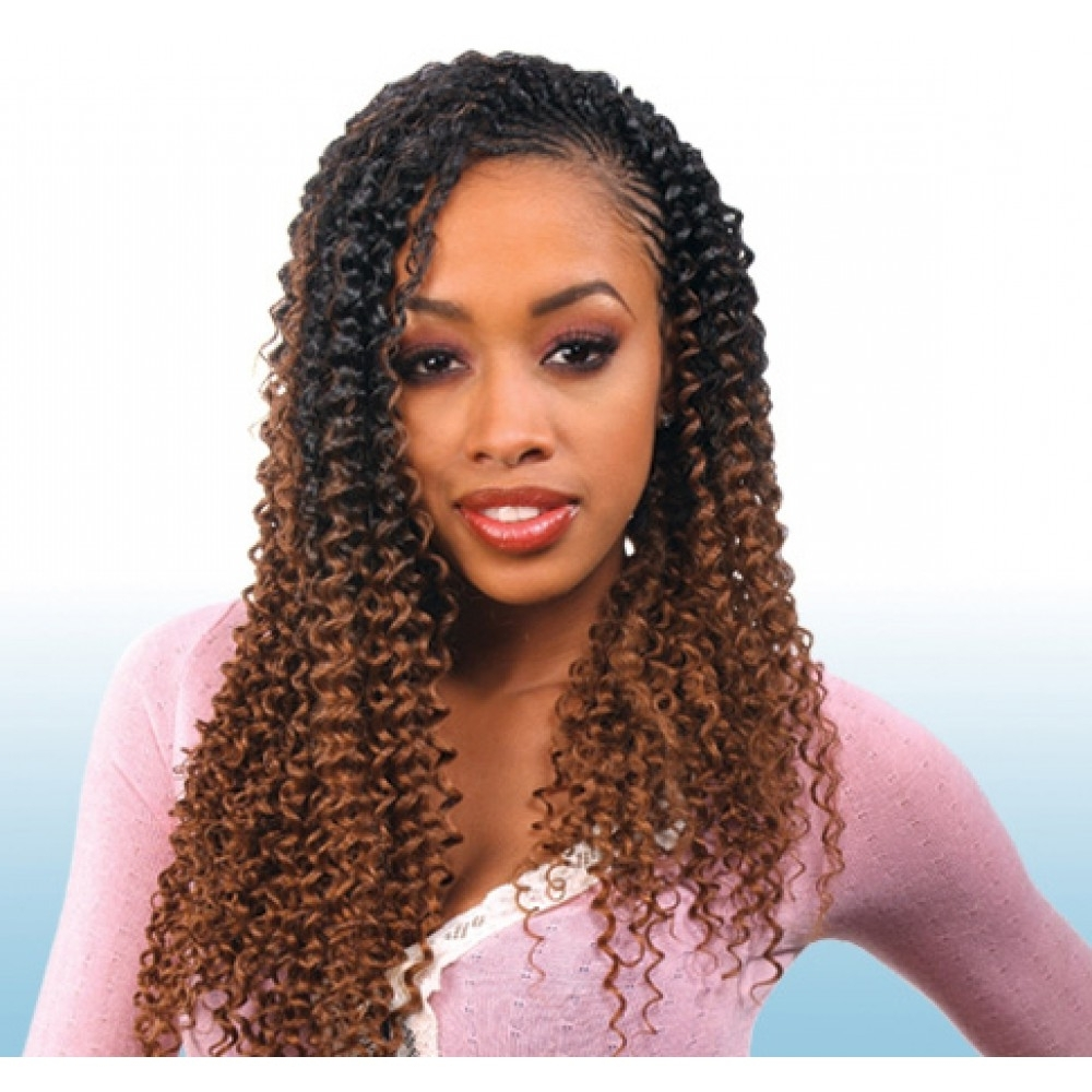 """Current Braided Extension Hairstyles Throughout Freetress Braids – Water Wave 22"""" (View 6 of 15)"""
