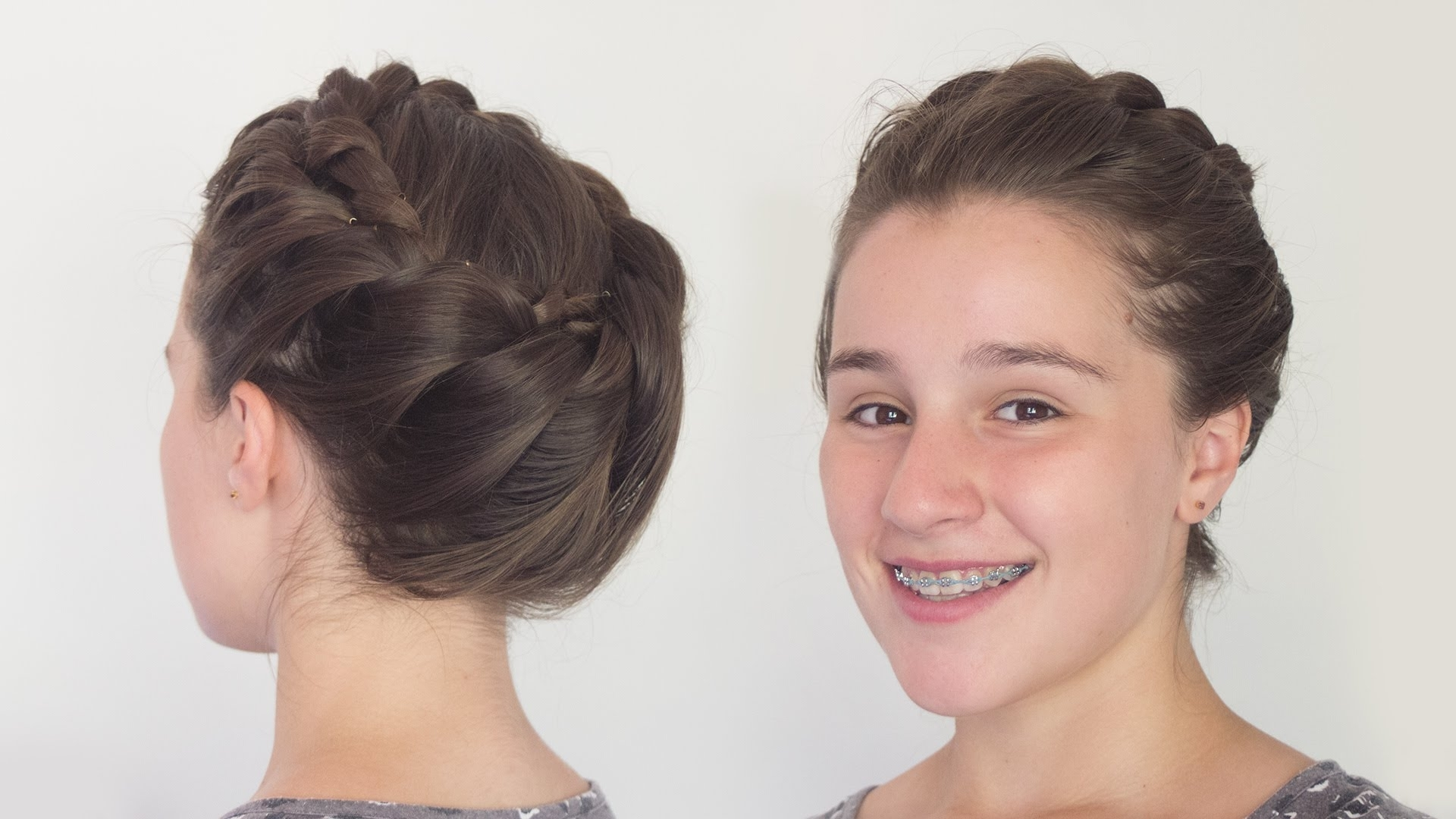 Current Braided Greek Hairstyles Throughout Greek Goddess Crown Braid Hairstyle For Long Hair – Youtube (View 5 of 15)