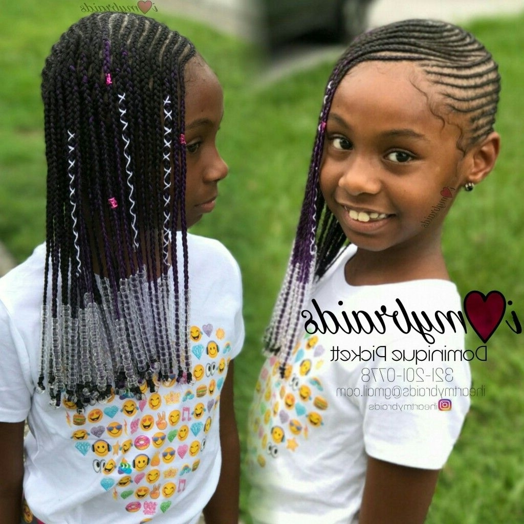 Current Braided Hairstyles For Little Girls For Babygirl Lemonade Braids (View 10 of 15)