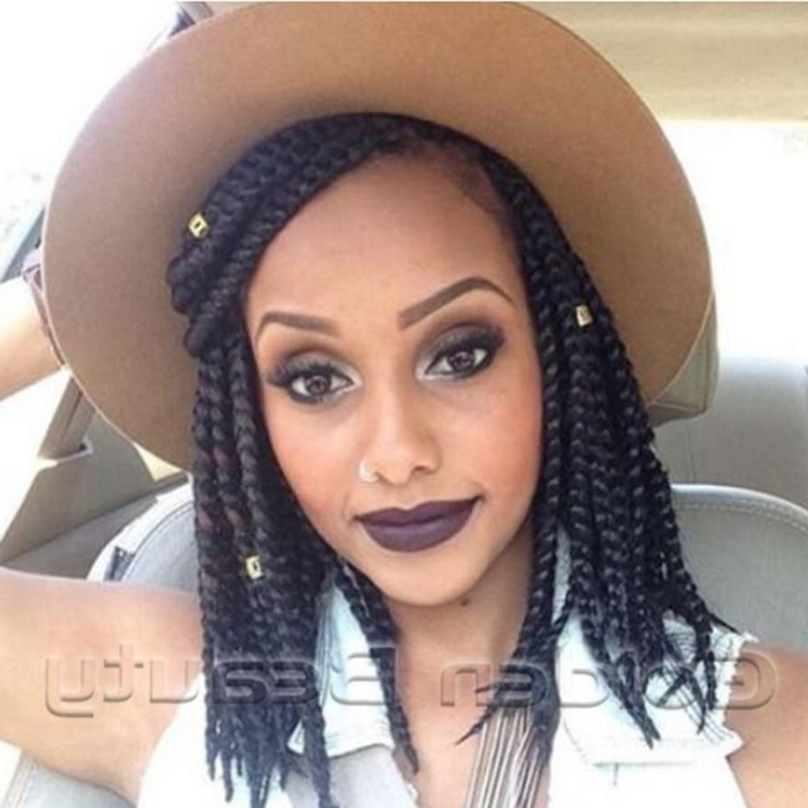 Current Braided Hairstyles For Relaxed Hair Inside Wholesale 14Inch Synthetic Crochet Hair Extensions Braiding Hair (View 8 of 15)
