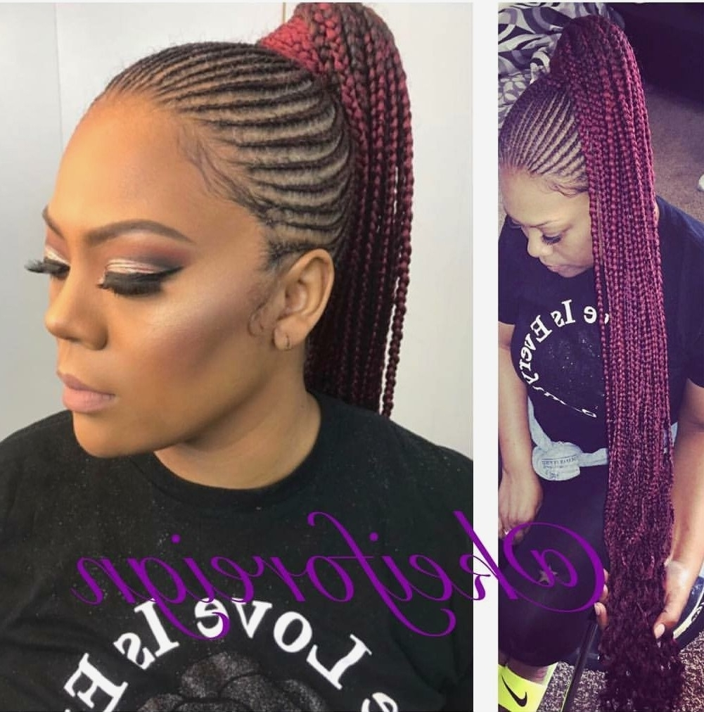 Current Braided Hairstyles In A Ponytail Pertaining To 30 Fancy Black Ponytail Hairstyles 2018 ~ Louis Palace (View 14 of 15)