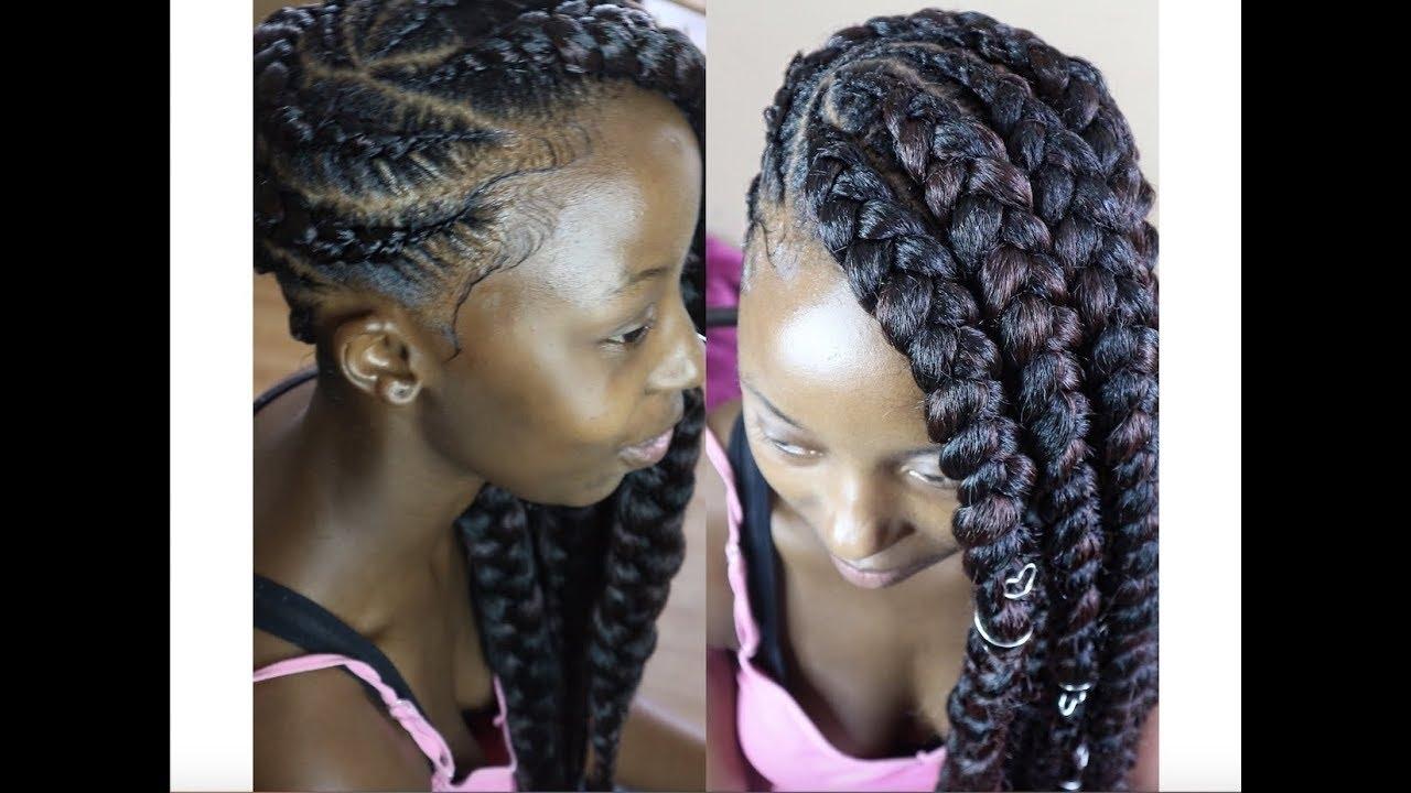 Current Lemonade Braided Hairstyles Intended For ?jumbo Lemonade Braids? – Youtube (View 4 of 15)