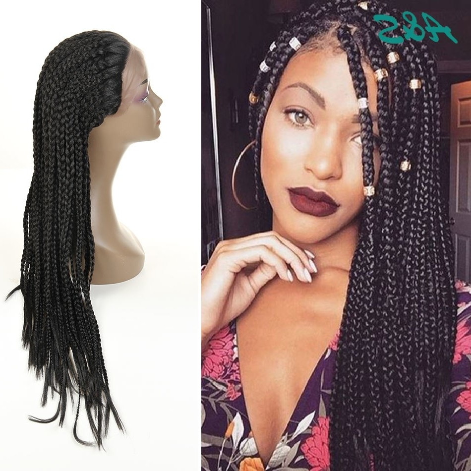 Current Rihanna Braided Hairstyles Within Popular Overwatch Cosplay 3X Box Braids Synthetic Lace Front Wig (View 5 of 15)