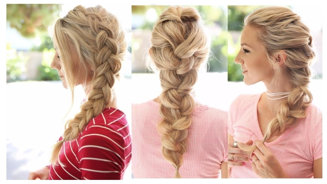 Current Romantic Braid Hairstyles Inside 15 Cute & Easy Braid Hairstyles , Most Beautiful Braid Hairstyles (View 15 of 15)