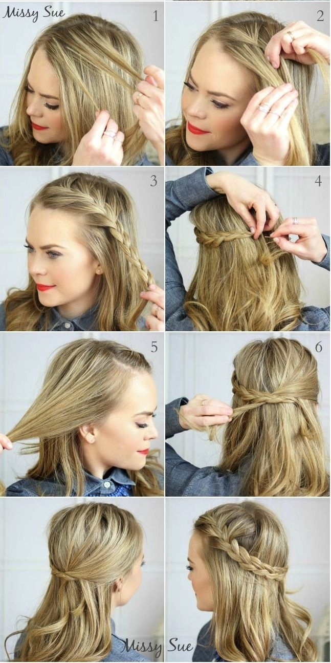 Cute Easy Braided Hairstylesr Long Hair Bun Short With Layers Quick Within Widely Used Quick Braided Hairstyles For Medium Hair (View 5 of 15)