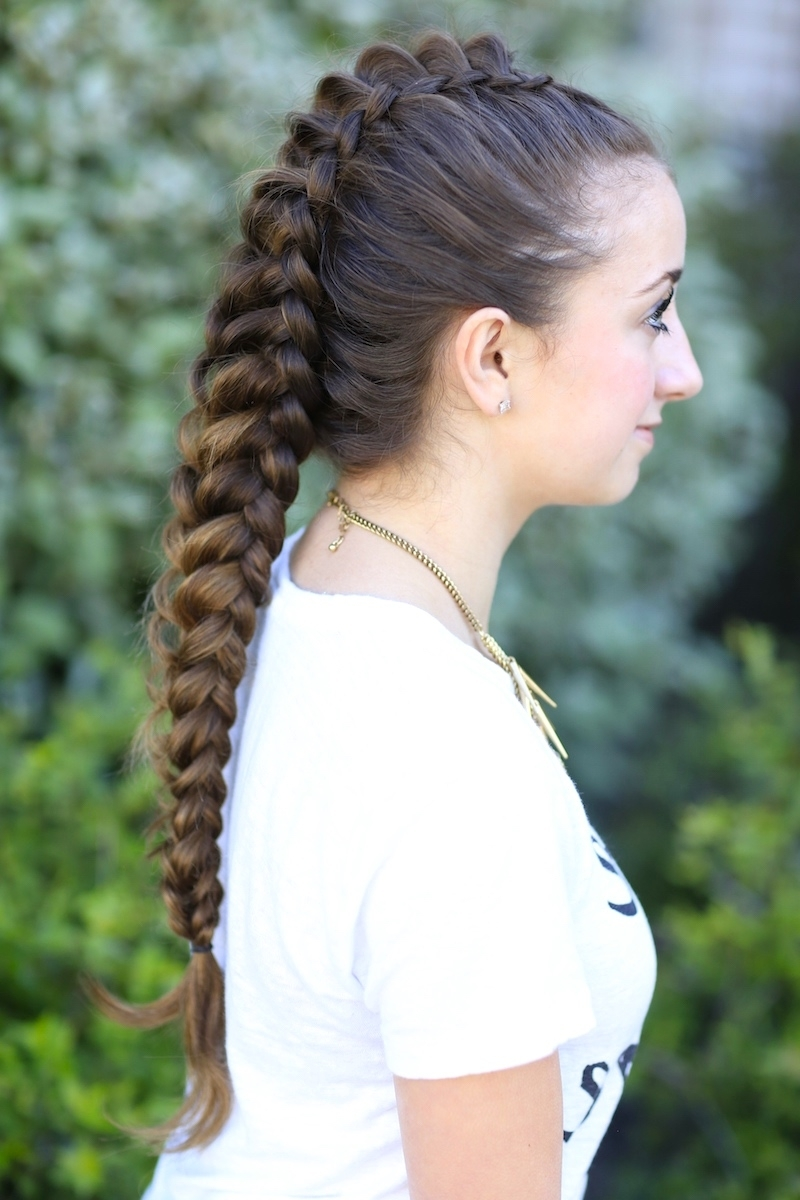 Cute Girls Hairstyles For Well Known Braided Lines Hairstyles (View 6 of 15)