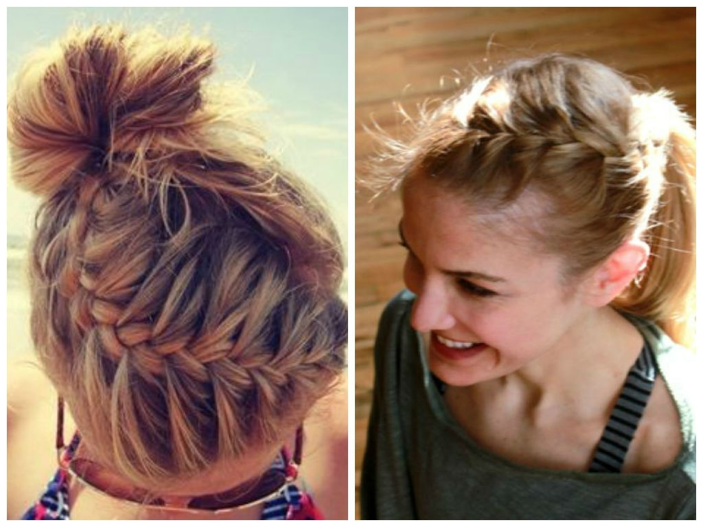 Cute Gym Hairstyles For Long Hair: Ingenious Hair Hacks For The Gym Inside Recent Braided Gymnastics Hairstyles (View 8 of 15)