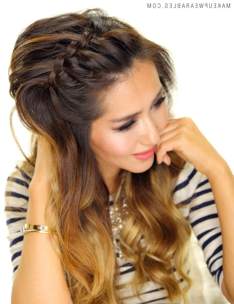 Cute Hair Braid Style For Korean Girl 3 Easy Peasy Headband Braid With Regard To Current Korean Braided Hairstyles (View 8 of 15)