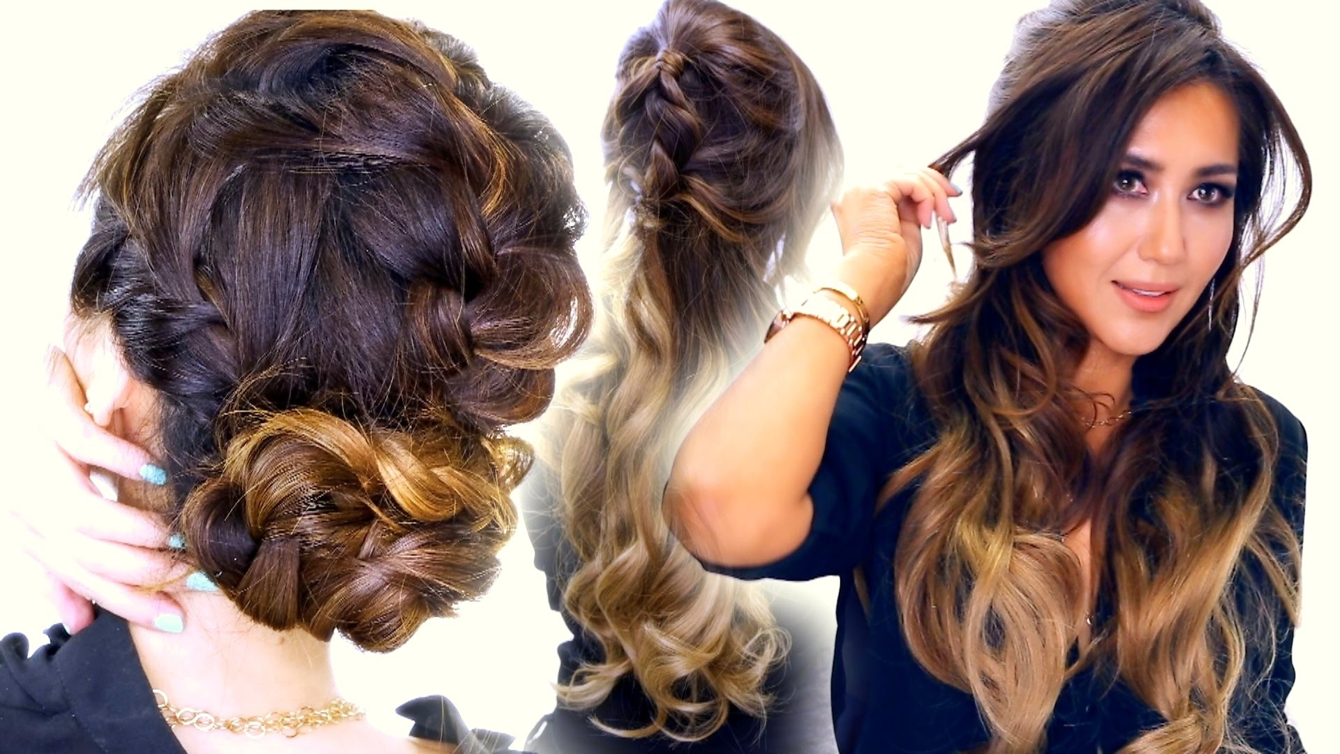 Cute Half Updo & Messy Bun Hairstyle Throughout Best And Newest Braided Hairstyles For Summer (View 14 of 15)