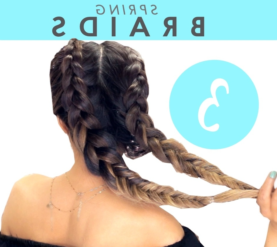 Double Braids Regarding Famous Braided Running Hairstyles (View 8 of 15)