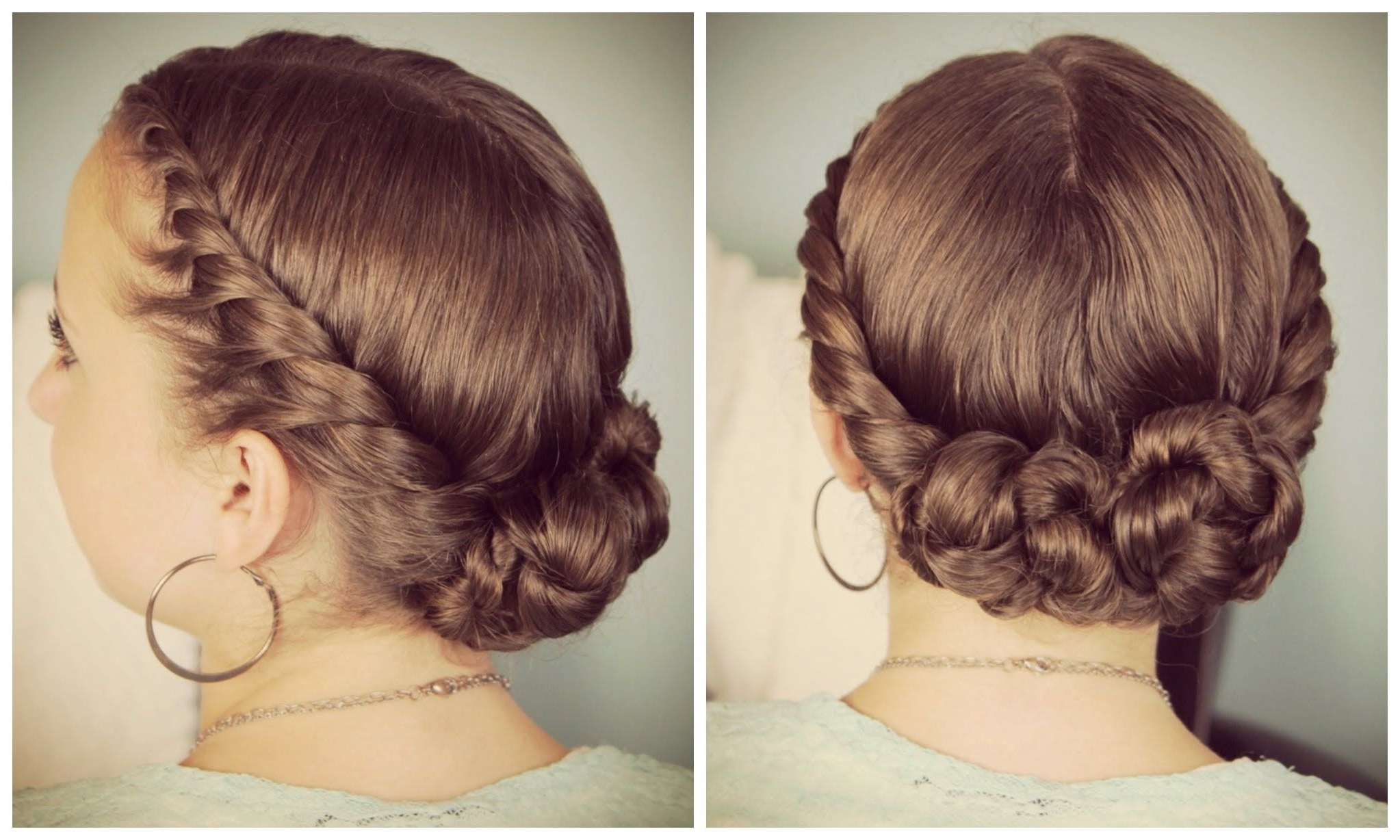 Double Twist Bun Updo + Nume Wand Giveaway Winners (View 4 of 15)