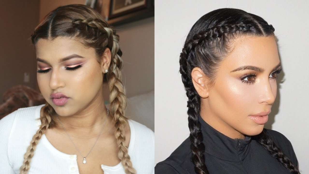 Dutch/french Braids – Youtube With Regard To Most Up To Date Kim Kardashian Braided Hairstyles (View 5 of 15)