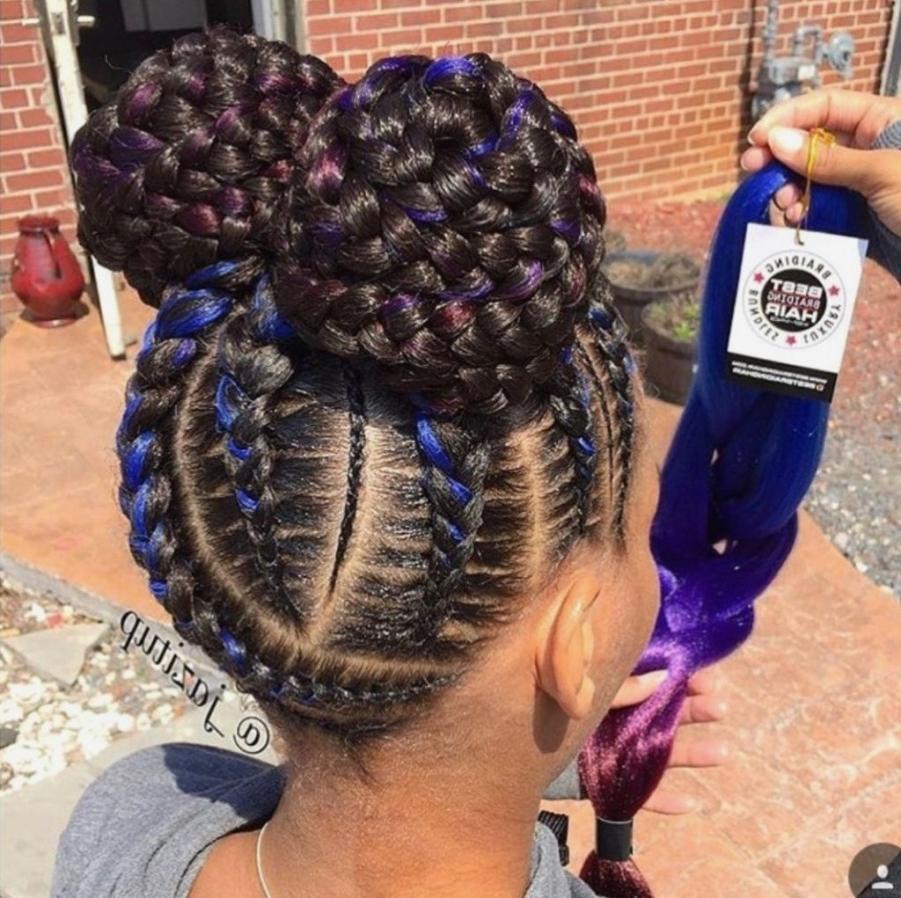 √ 24+ Best Black Goddess Braids Hairstyles: Braid Hairstyles : New Inside Favorite Goddess Braid Hairstyles (View 3 of 15)
