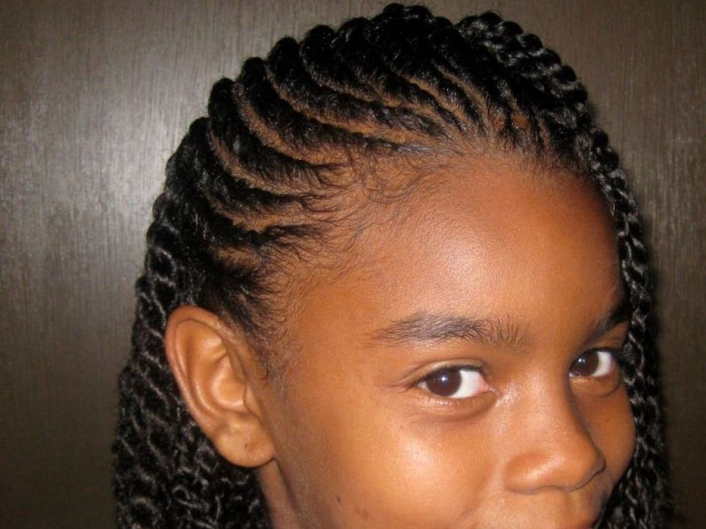 √ 24+ Winning Braided Hairstyles For Black Hair: Pretty African Intended For Most Popular Braided Hairstyles For Girls (View 8 of 15)