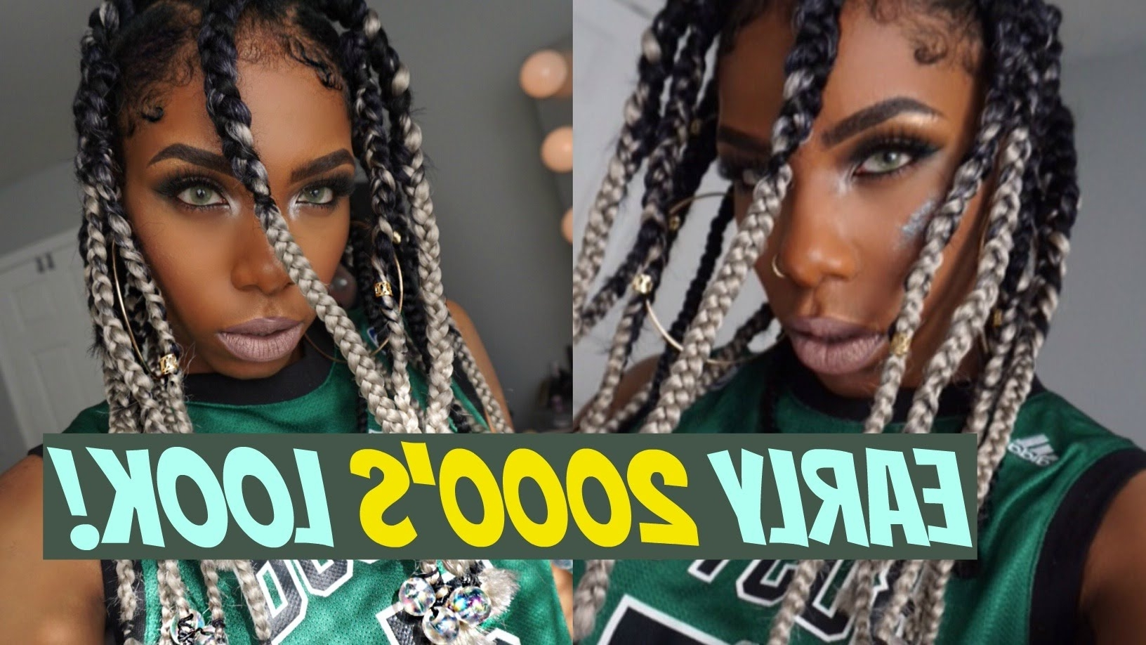 Early 2000's! Da Brat & Rihanna Inspired Dookie Braids Tutorial With Famous Rihanna Braided Hairstyles (View 7 of 15)