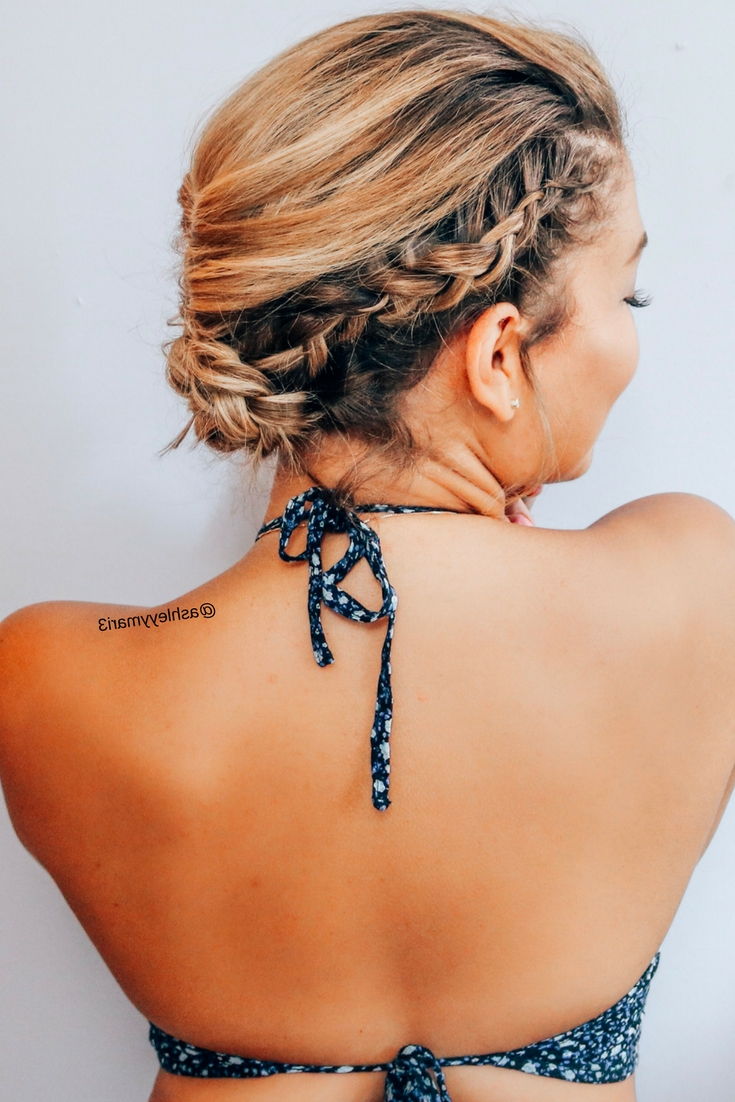 Easy, Braided Hairstyles, Summer Hairstyles, Vacation Hairstyles Within Current Braided Hairstyles For Vacation (Gallery 12 of 15)