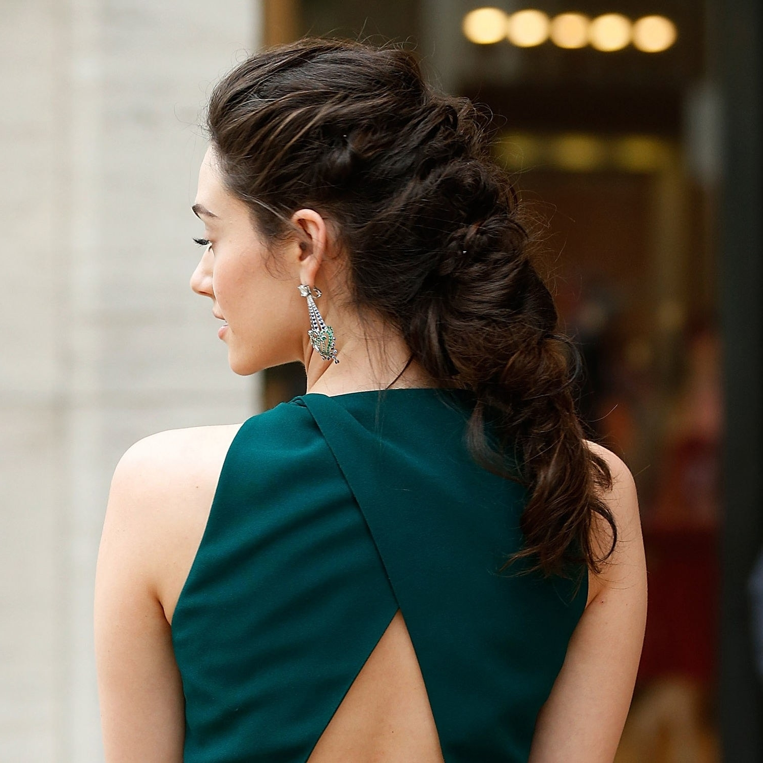 Emmy Rossum Wears A Fierce Braided Hairstyle To A Ballet Spring Gala Pertaining To Current Red Carpet Braided Hairstyles (View 5 of 15)