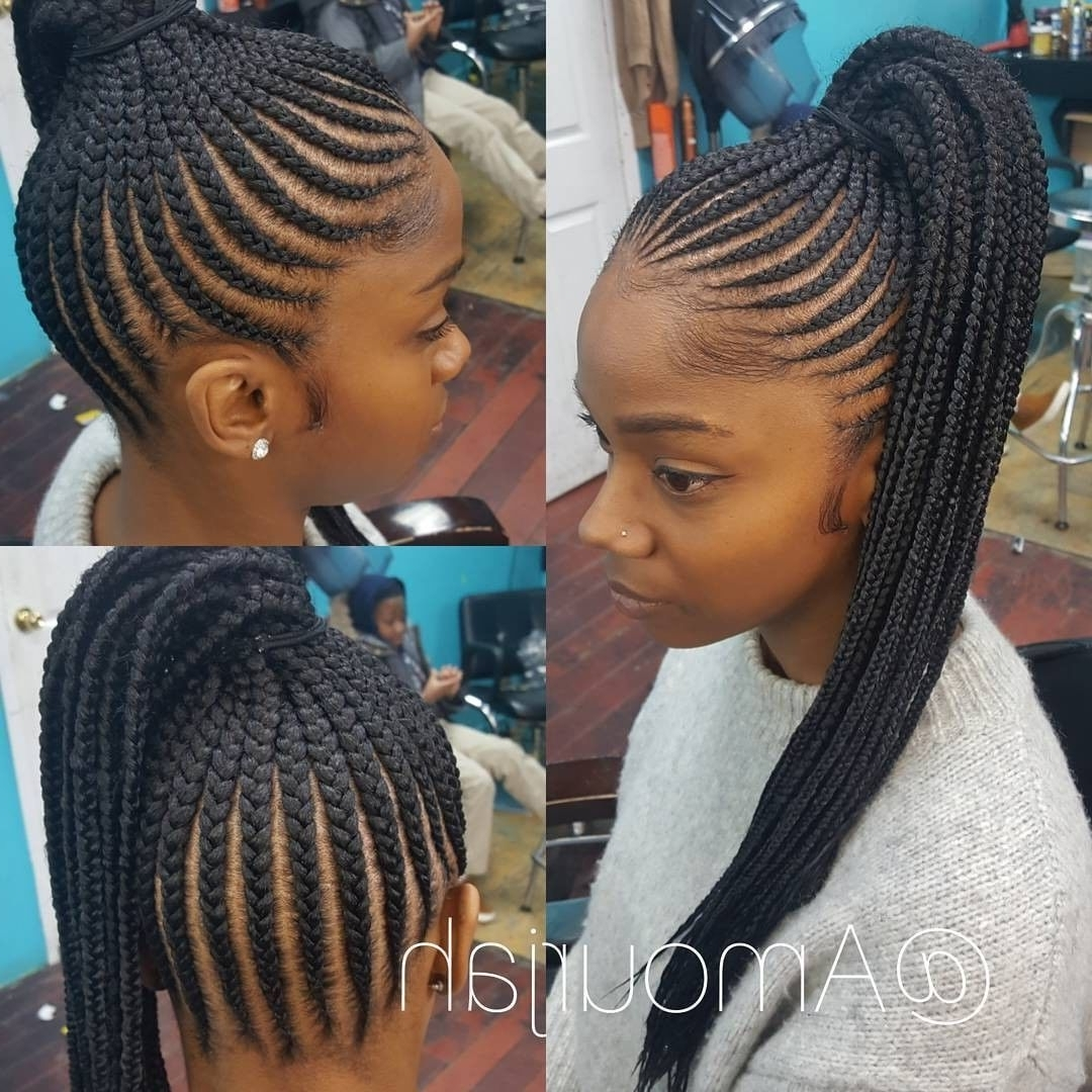 Famous Black Braided Ponytail Hairstyles Inside 6,094 Likes, 56 Comments – Voiceofhair (stylists/styles (View 9 of 15)