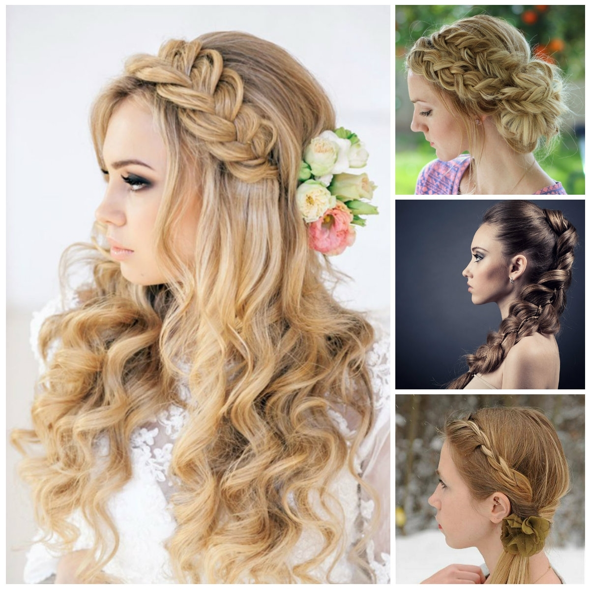 Famous Braided Evening Hairstyles With Regard To 48 Latest & Best Prom Hairstyles (View 7 of 15)