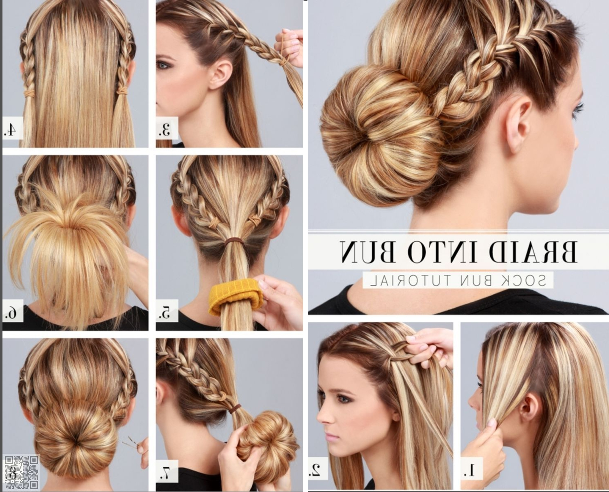 Famous Braided Hairstyles Into A Bun In 5 Super Chic Bun Hairstyle Tutorials (View 7 of 15)