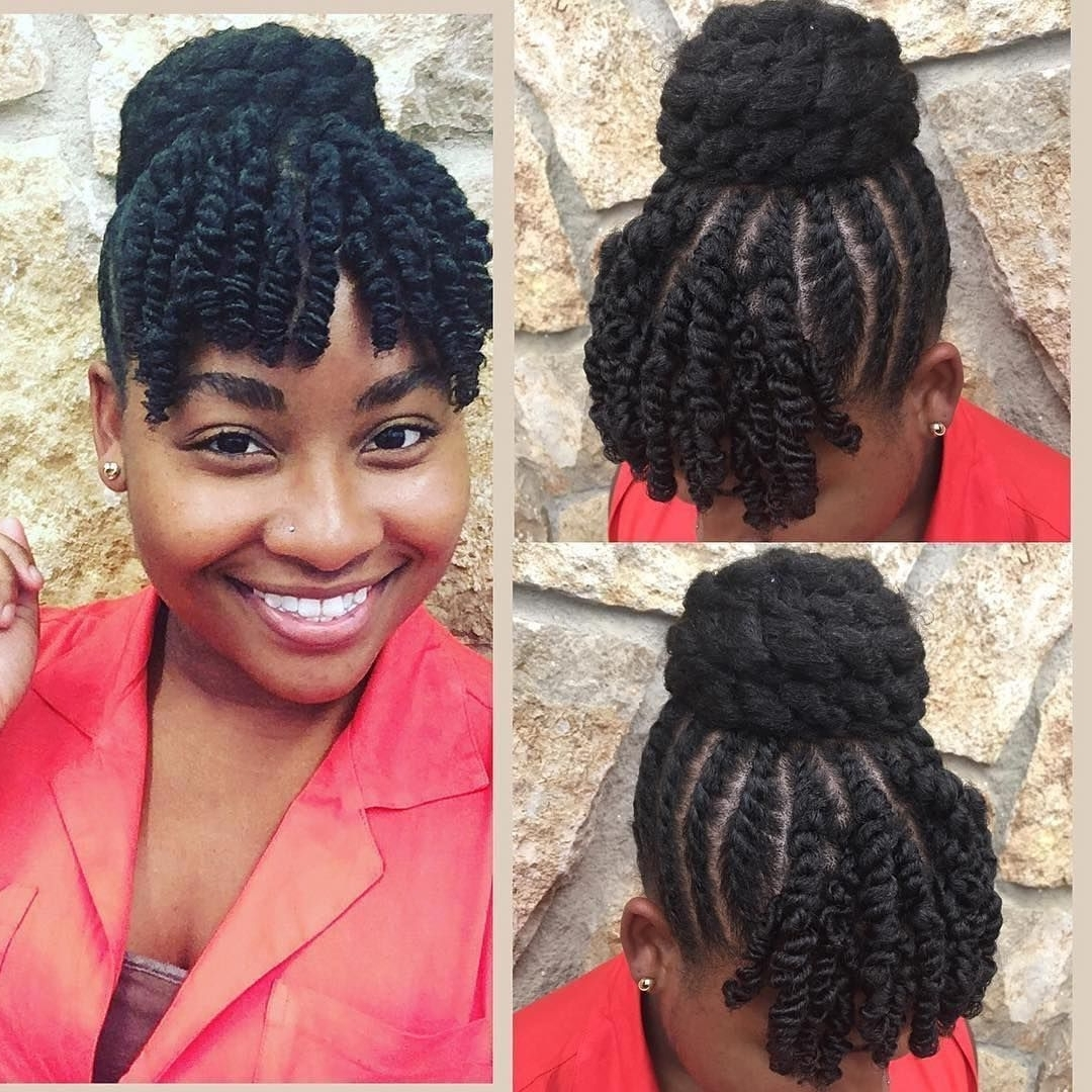 Famous Braided Hairstyles With Bangs For 15 Gorgeous Protective Hairstyles Featuring Coily Hair Textures (View 5 of 15)