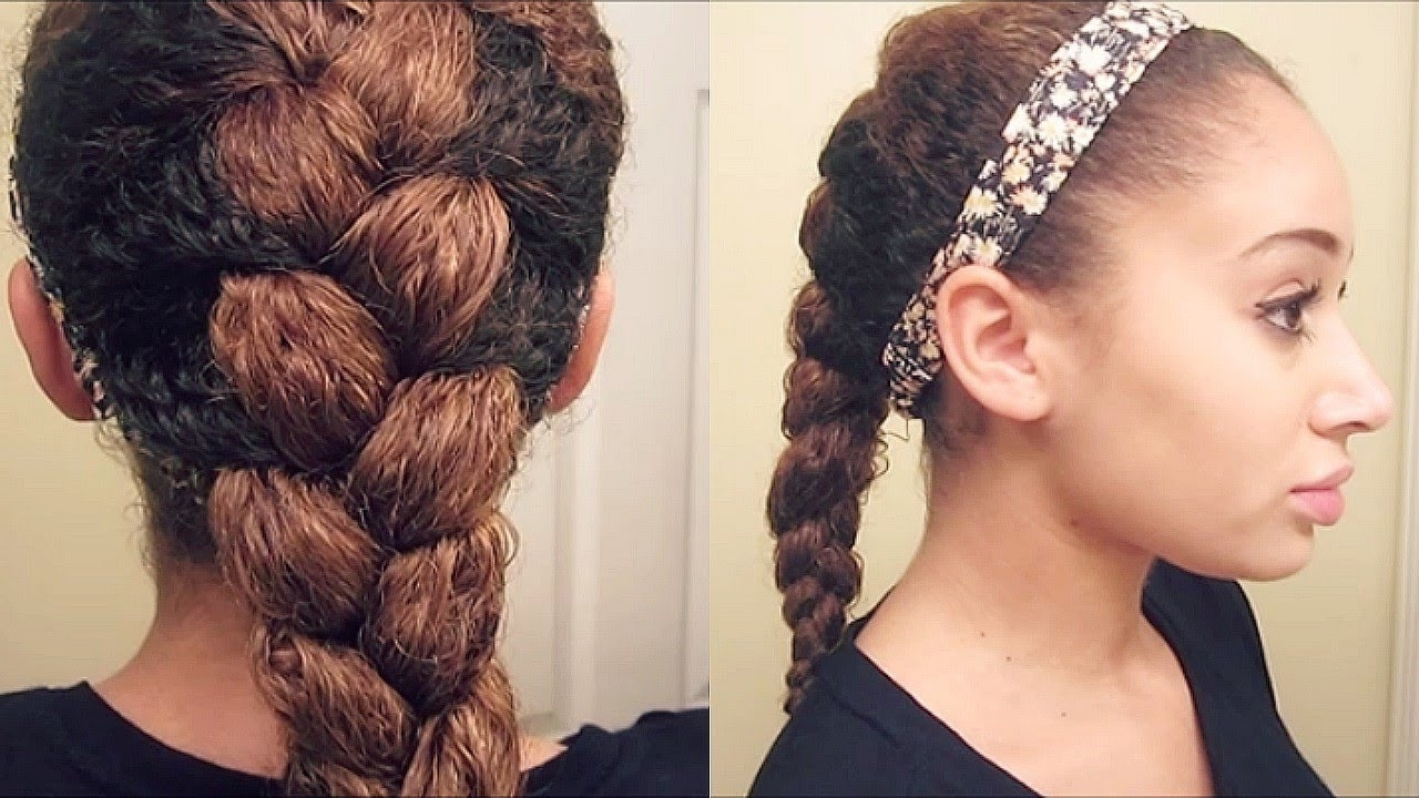 Famous Braided Hairstyles With Curls With Regard To How To: French Braid Curly Hair – Youtube (View 6 of 15)